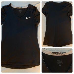 Nike Pro Dri-fit V-neck T-Shirt